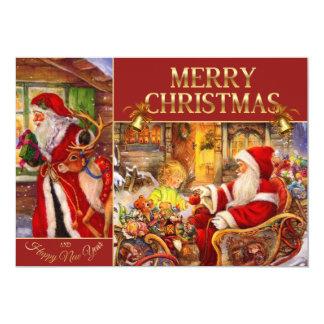 Santa claus illustration - Santa sleigh Card