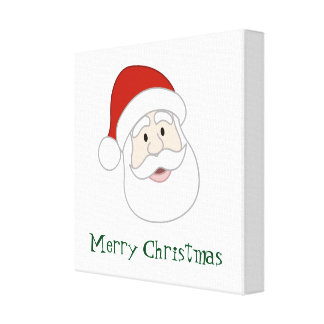 Santa Claus Illustration & Text Canvas Print