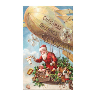 Santa Claus in Airship Canvas Print