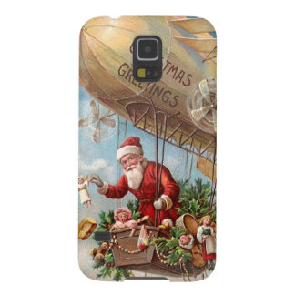 Santa Claus in Airship Case For Galaxy S5