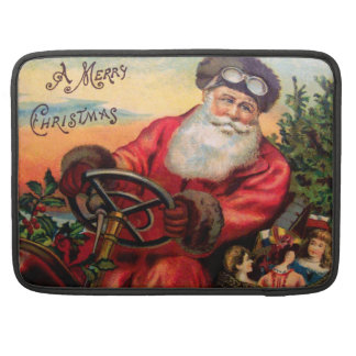 Santa Claus in Automobile Sleeve For MacBooks