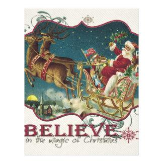 Santa Claus in Flying Sleigh.jpg Customized Letterhead