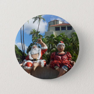 Santa Claus in Hawaii 2 Inch Round Button