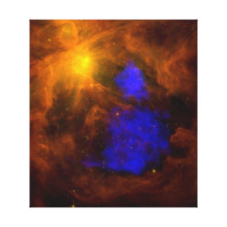 Santa Claus in Orion in x-ray Gallery Wrap Canvas