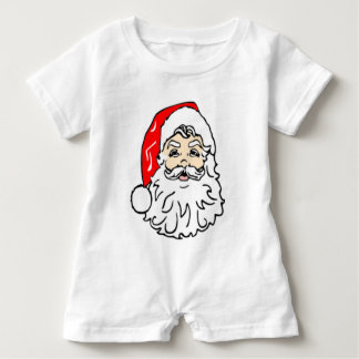 Santa Claus in Red Hat Baby Romper