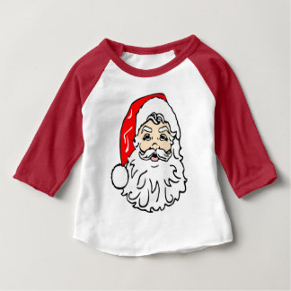 Santa Claus in Red Hat Baby T-Shirt