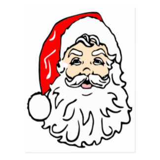Santa Claus in Red Hat Post Cards