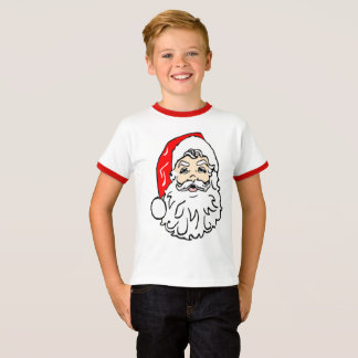 Santa Claus in Red Hat T-Shirt
