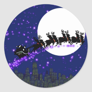 Santa Claus is coming sticker