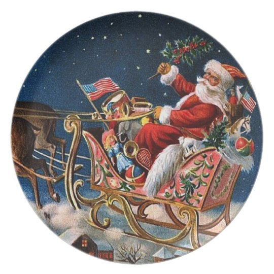 Santa Claus is Comming to Town Plate