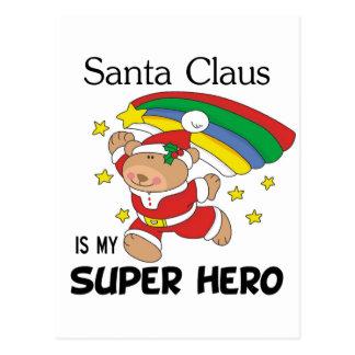 Santa Claus is My Superhero Christmas Postcard