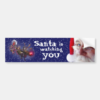 Santa Claus is Watching You Bumper Sticker