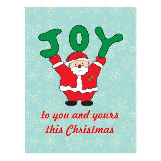 Santa Claus Joy Christmas Postcard