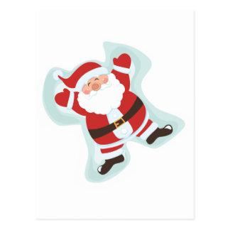 Santa Claus Jumping with Joy Postcard