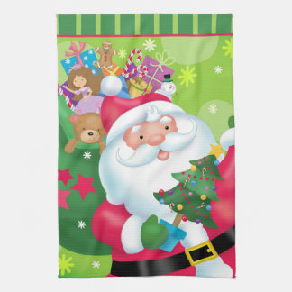 Santa Claus Kitchen Towel