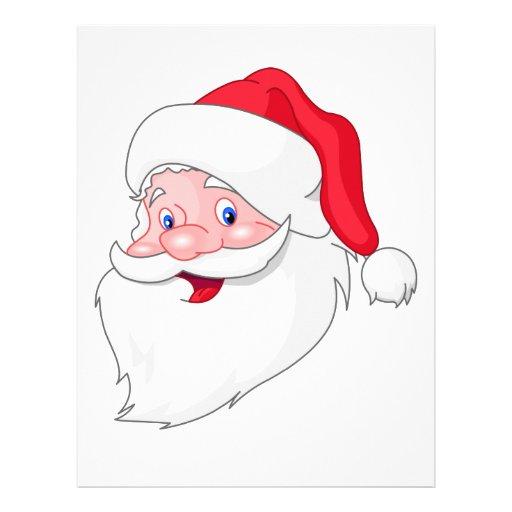 Santa Claus Face Template Santa claus letterhead