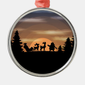 Santa Claus lost Metal Ornament