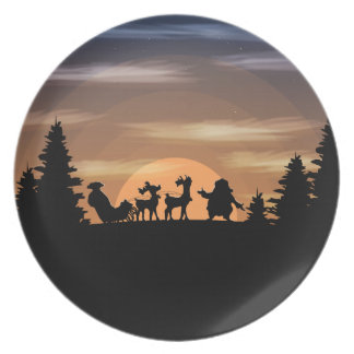 Santa Claus lost Plate