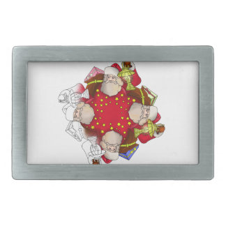 Santa Claus Mandala Belt Buckle