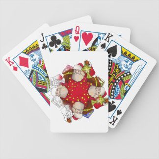 Santa Claus Mandala Bicycle Playing Cards