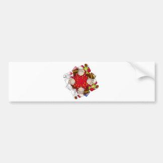 Santa Claus Mandala Bumper Sticker