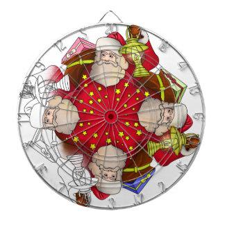 Santa Claus Mandala Dartboard