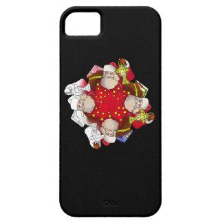 Santa Claus Mandala iPhone 5 Cases