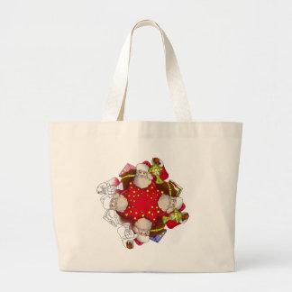 Santa Claus Mandala Large Tote Bag