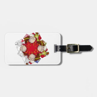 Santa Claus Mandala Luggage Tag