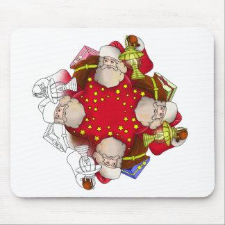 Santa Claus Mandala Mouse Pad