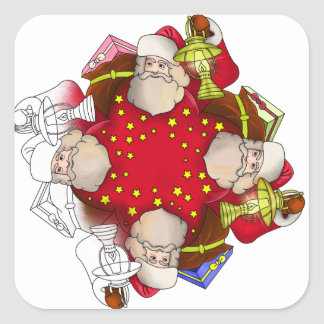 Santa Claus Mandala Square Sticker