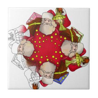Santa Claus Mandala Tile