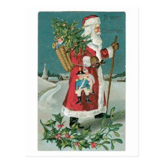 Santa Claus Marry Christmas Postcard