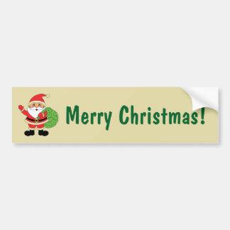 Santa Claus Merry Christmas Bumper Sticker