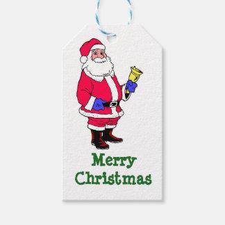 Santa Claus Merry Christmas Gift Tags