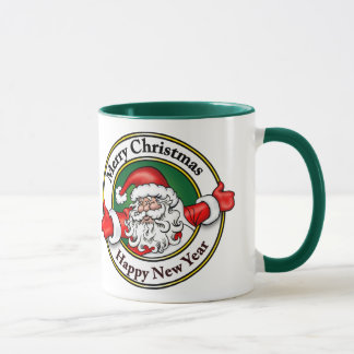 Santa Claus Merry Christmas Happy New Year Mug