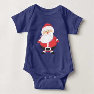 Santa Claus Merry Christmas Holiday season Baby Bodysuit