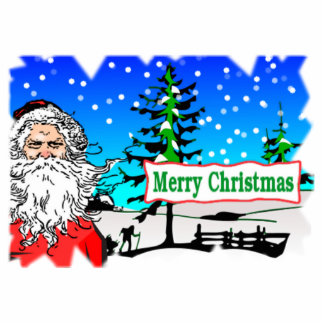 Santa Claus Merry Christmas Photo Cut Out