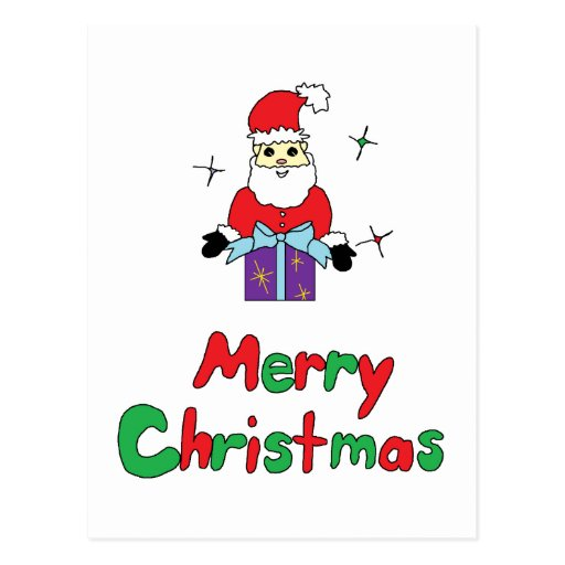 Santa Claus Merry Christmas Post Card
