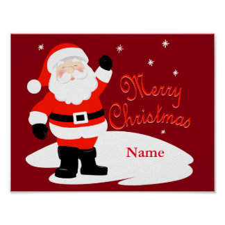 Santa Claus Merry Christmas Poster