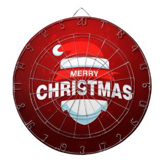 Santa Claus Merry Christmas Xmas Cute Red Dartboard