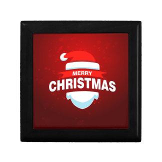 Santa Claus Merry Christmas Xmas Cute Red Gift Box