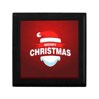 Santa Claus Merry Christmas Xmas Cute Red Jewelry Box