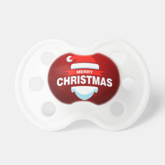 Santa Claus Merry Christmas Xmas Cute Red Pacifier