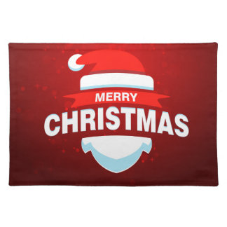 Santa Claus Merry Christmas Xmas Cute Red Placemat