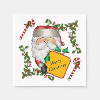 Santa Claus Message Holiday Disposable Napkin
