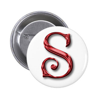 Santa Claus Monogram Initial Christmas Holidays 2 Inch Round Button