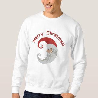 Santa Claus Moon Embroidered Sweatshirt