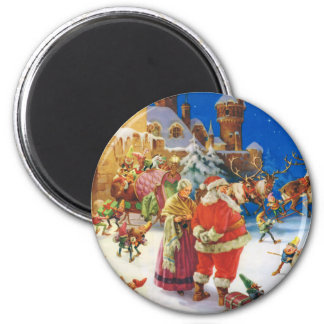 SANTA CLAUS & MRS. CLAUS AT THE NORTH POLE MAGNET