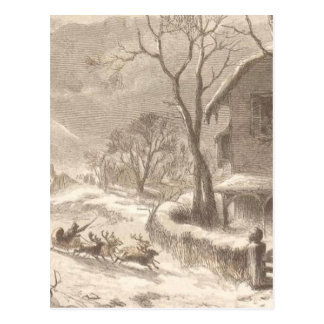 Santa Claus on Christmas Eve Postcard